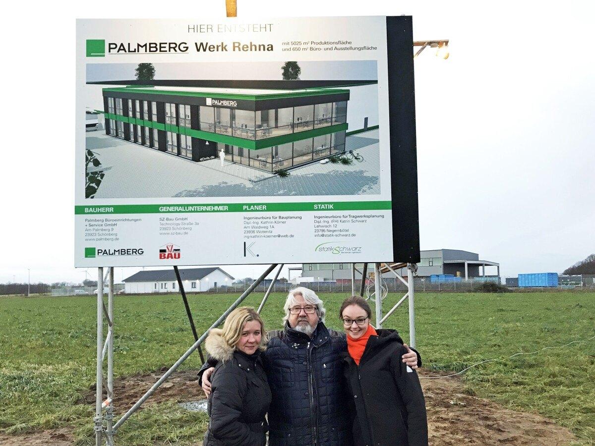 Spatenstich Werk Rehna Palmberg Büroeinrichtungen Service Gmbh